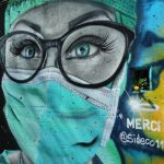 "A graffiti representing a nurse by artist David ""S.I.D."" Perez is pictured on a wall and part of a serie to pay tribute to essential workers during the coronavirus disease (COVID-19) outbreak in Gland, Switzerland, April 5, 2020. (Reuters)"
