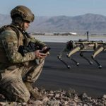 US Air Force exercised robot dogs two weeks ago. @@Ghost_Robotics